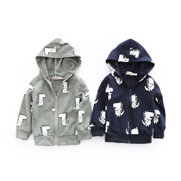 Wholesale Cartoon Hoodies Girls - Cotton Boys Girls Baby Hoodies Tops Cartoon Long Sleeve Sweatshirts Clothing Spring Autumn Toddler Hooded Coat Boutique Outwear Clothes
