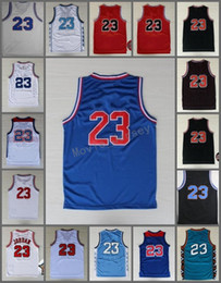 Wholesale green rev - Best Quality 1992,1996,1998 all star Jersey #23 Retro Basketball Jerseys Classical Red Black White New Rev 30 Embroidery Jersey S-XXL