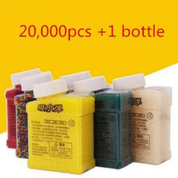 Wholesale Plastic Bottle Beads - 1 Bottle &20000pcs Seven colors orbeez soft crystal water paintball gun bullet grow water beads balls water gun toy 7 to 9 mm