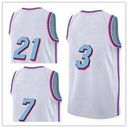 Weißes Abstellgleis Rabatt 2018 Neue Ankunft # 3 Basketball Jerseys # 7 #  21 Weiße Seite