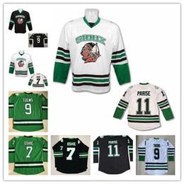 Cheap North Dakota University Sioux Hockey Jersey 7 TJ Oshie 9 Jonathan  Toews 11 Zach Parise Blank College Hockey Jerseys e76b5218e