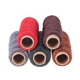 150D 50 m / rouleau ligne de cire bricolage à la main en cuir résistant à l'usure plat fil à coudre couture à la main couture artisanat outils ? partir de fabricateur
