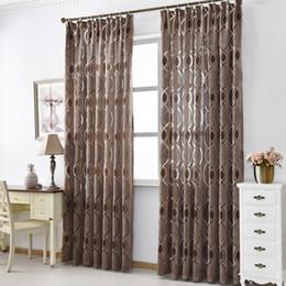 2020 cortinas para el hogar diseños Nuevo diseño de la cortina decoración casera moderna de la sala cortinas de ventana Tela Negro Listo lujo cortina de ventana Tratamientos Marca cortinas para el hogar diseños baratos