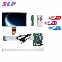 2019 resolución de pantalla Skylarpu 7 pulgadas de alta resolución 1024x600 pantalla LCD Monitor TFT con control remoto del controlador 2AV HDMI VGA para resolución de pantalla baratos