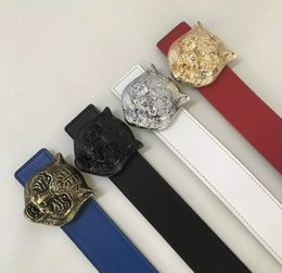Wholesale White Leather Belt For Sale - hot sale Famous Brand Men clip smooth buckle Belt Men High Quality Genuine Leather Designer Belts for Men Size 105-125cm 5color chose