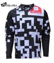 Bmx negro online-Hombres Racing GP FISH Aire Maze Jersey Blanco / Negro MX ATV Off Road bicicleta de montaña moto de motocross Jersey DH BMX