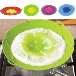 pentole in gomma Sconti Nuovo arrivo Gadget da cucina Coperchio in silicone tappo di sversamento coperchio Pot 28,5 cm Diametro pentola di cottura Utensili