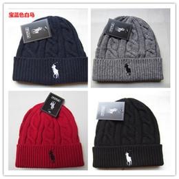 Wholesale Rangers Sports - 2018 New York Knits Hats Sport Beanies With Women polo Knit Hat Skullies Warm Rangers Winter Hats Pom Pom Beanies
