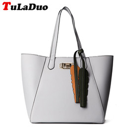 Wholesale Womens Black Large Bags - Hot Luxury Fashion Patchwork Big Ladies Shoulder Bags Designer High Quality Leather Tote Bags Womens Large Handbags bolsos mujer
