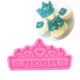 Wholesale Wedding Fondant Molds - Wholesale- New Arrival Princess Crown Silicone Cake Molds Wedding Cake Border Fondant Cake Decorating Tools Cupcake Chocolate Molds
