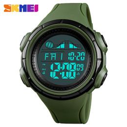 skmei watch dual Promotion SKMEI hommes montre de sport numérique de mode étanche LED électronique montres chronomètre relogio masculino double temps