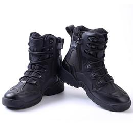 ESDY Outdoor Desert Bottes tactiques en cuir véritable chaussures pour homme botte de combat kaki alpinisme bottes chaussures de travail de la cheville ? partir de fabricateur