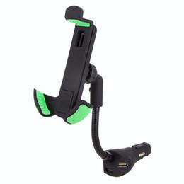 Araç Telefonu Tutucu Standı ile 3 USB Portu Hızlı Araç-Şarj Çakmak Esnek Gooseneck Destek Dağı için 3.5-6.3