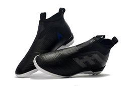 official photos 579e1 92b95 Top quality nero bianco turbo compresse Messi scarpe da calcio 100%  originale ACE Tango 17+ Purecontrol TF   IC scarpe da calcio per bambini al  coperto ...
