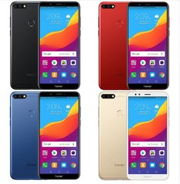 Wholesale global tv - Huawei Honor 7C Global ROM Full View Screen 5.99 Face ID Smartphone Android 8.0 Qualcomm 450 1.8GHz*8 13MP Dual Rear Camera