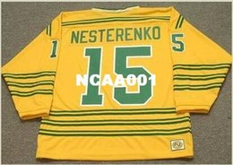 Wholesale wha hockey jersey - Mens #15 ERIC NESTERENKO Chicago Cougars 1974 WHA Throwback Hockey Jersey or custom any name or number retro Jersey