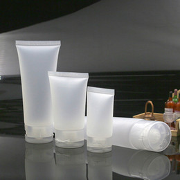 Wholesale Frosted Plastic Tube - 5ml 10ml 15ml 30ml 50ml 100ml Clear Plastic Lotion Soft Tube Packing Bottles Frost Flip Sample Empty Cosmetic Makeup Cream Container TY7-254