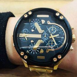 Wholesale Mountaineering Watches - GA110 United States Brazil outdoor mountaineering sport DZ7333 large top brand luxury quartz men's watches 2017new