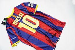 Chalets jersey online-Envío gratis 2010-2011 casa messi xavi henry puyol david villa retro jersey camisas viejas campeón final liga