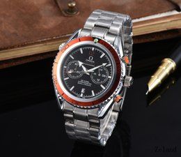 Wholesale Chronograph Swiss Watches - All Subdials Work AAA Mens Watches Relojes Swiss Luxury Brand Stainless Steel Mechanical Automatic Watches Montre Homme Business Male Clock
