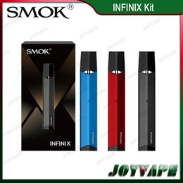 Wholesale metal pen drive - Authentic SMOK INFINIX Kit 250mAh 2ml INFINIX All-in-one Air-driven Pod Starter Kit Pen Style Pod Kit with Built-in Battery 100% Original