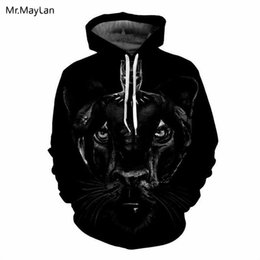 characters print sweatshirt Coupons - Movie Marvel Black Panther Cool Print 3D Jacket Men Women Cosplay Hiphop Pullover Hat Sweatshirts Hoodies Boys Black Clothes 5XL