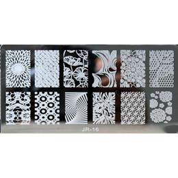 Совиное искусство ногтей онлайн-6 * 12 см JR-серии Nail Art Image Printing Plate Pumkin сова птица дизайн ногтей штамповки пластин искусство польский Шаблоны #16