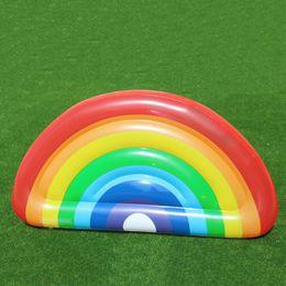 Canada Flotteurs gonflables de demi-cercle d'arc-en-ciel faciles à porter l'anneau de bain de PVC de Resuable de jouet de l'eau de piscine pour des adultes et des enfants 60at B cheap easy floats Offre