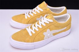 Wholesale Designers Art - Conversed One Star X Golf Le Fleur Flowers Shoes Women Men Casual Designer Fur Yellow Blue Canvas Running Casual Luxury Sneakers Hip Hop