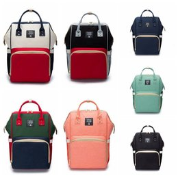 Wholesale Baby Diaper Cartoons - Mummy Baby Maternity Diaper Bag Nappy Changing Large Capacity Backpack Baby Bag Travel Backpacks Nursing Bag LJJO4222