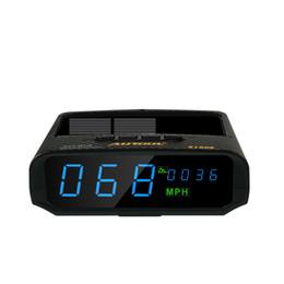 Altitudine gps online-vendita all'ingrosso X100S per tutte le auto Solare GPS HUD KM / H MPH Tachimetro Overspeed allarme Altitudine GPS di guida Display del computer Digital Meter