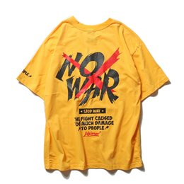 5348cf179 New Brand T Shirt Men Summer Hip Hop Top Tees Short Sleeve Streetwear Print  No War Stranger Things Cotton Loose Men's T Shirt M-XXL inexpensive stranger  ...