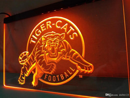 Wholesale Football Holidays - LD416- Tiger-Cats-Football LED Neon Light Sign
