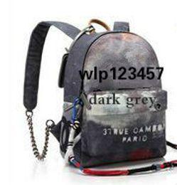 mochilas de graffiti Desconto Grafite Impresso Lona Mochila saco de corda bordado com impressão multicolorida mochila de lona saco de escola