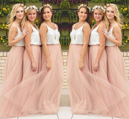 Wholesale green backless maxi dress - Hot Sale Cheap Underskirt Bridesmaid Dresses Tulle Skirt Blush Prom Dresses Bridesmaid Maxi Skirt Evening Party Gowns HY249