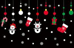 виниловый виниловый винил Скидка Рождественские окна стикеры стены стикеры, ПВХ наклейка съемный искусство с Рождеством стены стикеры декоративные обои 50X70cm