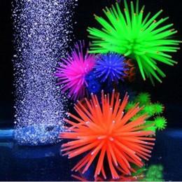 Coralli artificiali di acquario online-Artificiale Silicone Fish Tank Acquario falso Coral Flora subacquea acquatica Anemone Ornament Decoration