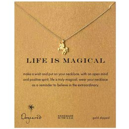 Wholesale Gold Does Fade - 2018 Selling Fine Little Unicorn Women's Necklace Alloy Clavicle Short Necklace Does Not Fade The Delivery Card   Silver  Gold