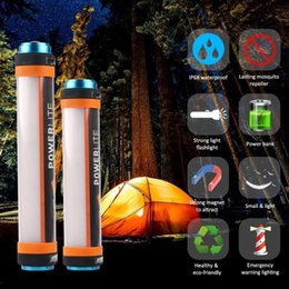 Wholesale led rechargeable emergency torch light - 8 in 1 Multifunctiona USB Rechargeable Flashlight Power Bank Torch Outdoor Camping Lamp LED Emergency Light 5pcs NNA267