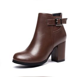 6cc8ae711ef315 Frauen Plattform Dicke High Heel Stiefeletten Seitlichem Reißverschluss  Schnüren Winterkampfstiefel Schwarz Weiß Beige Braun braune high heels  stiefeletten ...