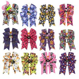 2019 diadema de araña Vendas del bebé de Halloween arco infantil calabaza elástica bruja araña imprimir Hairbands niños Headwear niños accesorios para el cabello C5161 rebajas diadema de araña
