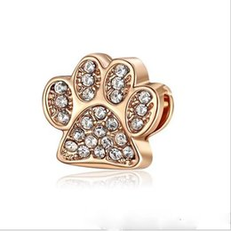 9331941cbaf Fit Pandora Charm Bracelet European Silver Charms Bead Animal Dog Paw Print  Charm Beads DIY Snake Chain For Women Bangle   Necklace Jewelry