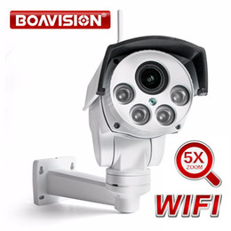 hd zoom wifi camera Promo Codes - Wireless HD 1080P 960P Bullet Wifi PTZ IP Camera Audio 5X Zoom Auto Focus 2.7-13.5mm 2MP Outdoor IR CamHi View