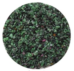Wholesale bulk elements - 200g 2-5mm Bulk Green Red Zoisite Stone Agate Quartz Chips Beads Gravels Aquarium C26