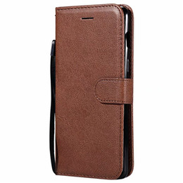 Capa traseira oneplus on-line-Caso carteira para OnePlus 6 1 + 6 Flip voltar capa Pure Color PU couro Mobile Phone Bags Coque Fundas para Oneplus 6