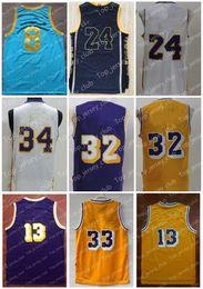 Wholesale Old Basketballs - 2017 Old Basketball Jersey Men Women Youth,Retro Kids33 AJ 24 KB 34 SO 13 WC 32 EJ,Power MPLS Alcindor