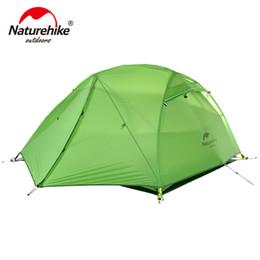 2019 tecido para tendas Naturehike Estrela Rio Tenda 20D Silicone Tecido Ultraleve 2 Pessoa Dupla Camada de Alumínio Rod Barraca de Acampamento Com Esteira NH17T012-T tecido para tendas barato