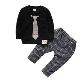 boys preppy suits Coupons - Baby Boys Clothing Sets Children Tracksuits Kids Sport Suit Casual Sweatshirts+Pants 2PCS Baby Set For Toddler Boys Clothes