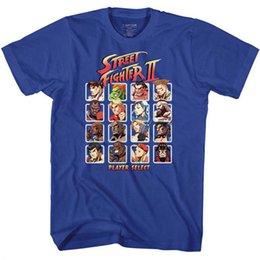 Camisetas de videojuegos online-Street Fighter 2 Capcom Video Game Player Seleccione camiseta para adultos