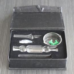 Micro tubulação on-line-Hot Kit Coletor de Néctar Mini 10mm Nector Coletores Dab Palha 21 cm de Comprimento Oil Rigs Micro NC Kits Tubo De Água de Vidro Ponta Titanium NC01